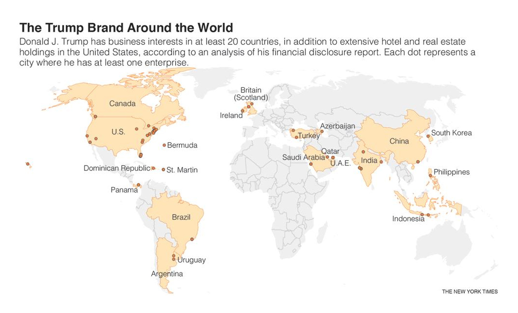 trump Brand Around The World
