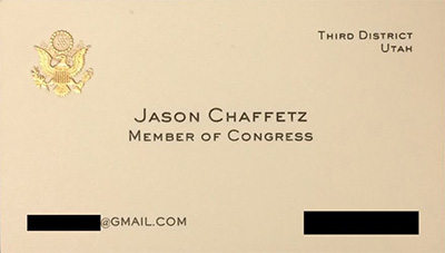 Chaffetz Business Card